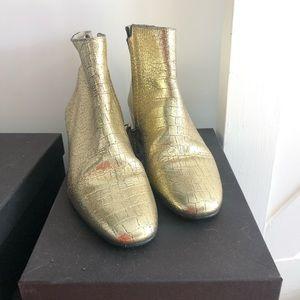 Gold booties!